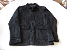 Men's Quiksilver coat jacket S black 001 NEW NWT surf skate brand snap 4... - $47.39