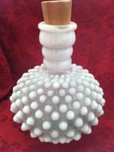 Vtg Fenton Hob-nail Perfume bottle white opales... - $14.84