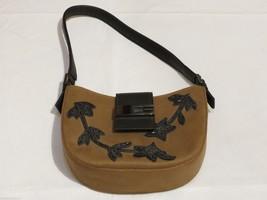 RARE Guess mini purse handbag shoulder bag beaded vintage brown womens s... - $24.99