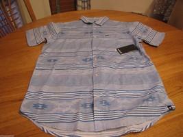 Men's Hurley short sleeve button up shirt S Parton SS Woven MVS0001010 b... - $24.99