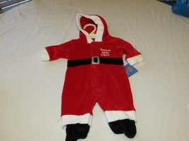 Carter's infant baby Christmas 3 month 3M 28.00 hoody 1 piece Santa help... - $11.99