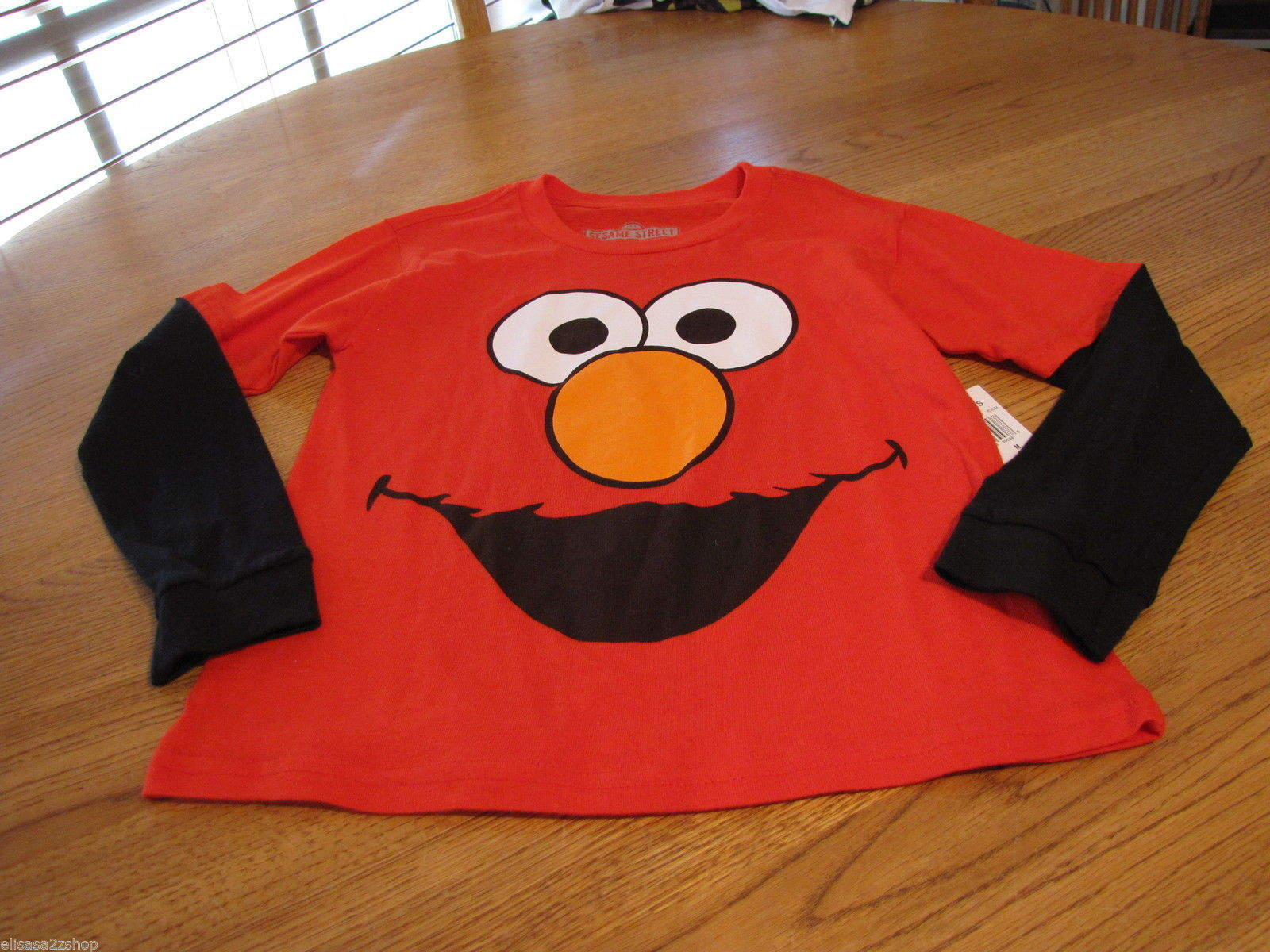Boy's Sesame Street Elmo red T shirt youth NEW longsleeve large L LG $24 NWT