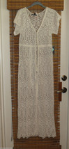 Kendall & Kylie Juniors Womens Lace Maxi Duster dress swim beach cover up XS **^ - $44.99