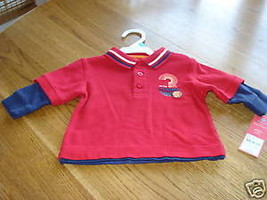Carter's boys 6M 6 months shirt NWT 20.00 NEW all star - $7.79