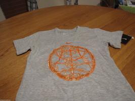 Boy's youth Nike T shirt NEW 6 kids basketball grey gray orange logo TEE... - $13.85