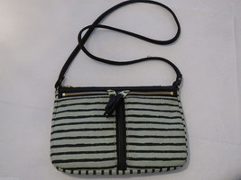 Fossil  ZB5736784 Erin Small Top Zip Mint green & black purse crossbody NWT*^ - $44.99