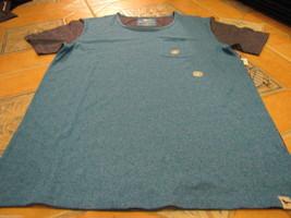 Men's Modern amusement pocket soft Crow RARE T shirt large blue heather NEW NWT - $21.77