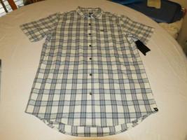 Mens Hurley short sleeve surf skate brand shirt button up Darby 11K plaid M - $29.39