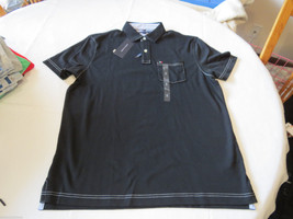 Men's Tommy Hilfiger Pocket Polo shirt  logo 7871395 Tommy Black S Classic Fit - $37.49