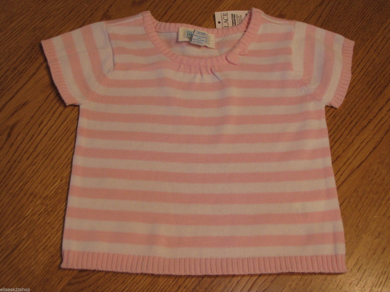 The Children's Place girls 24M 24 months T shirt White & Pink Sweater NWT ^^