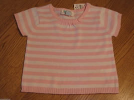 The Children's Place girls 24M 24 months T shirt White & Pink Sweater NW... - $5.93