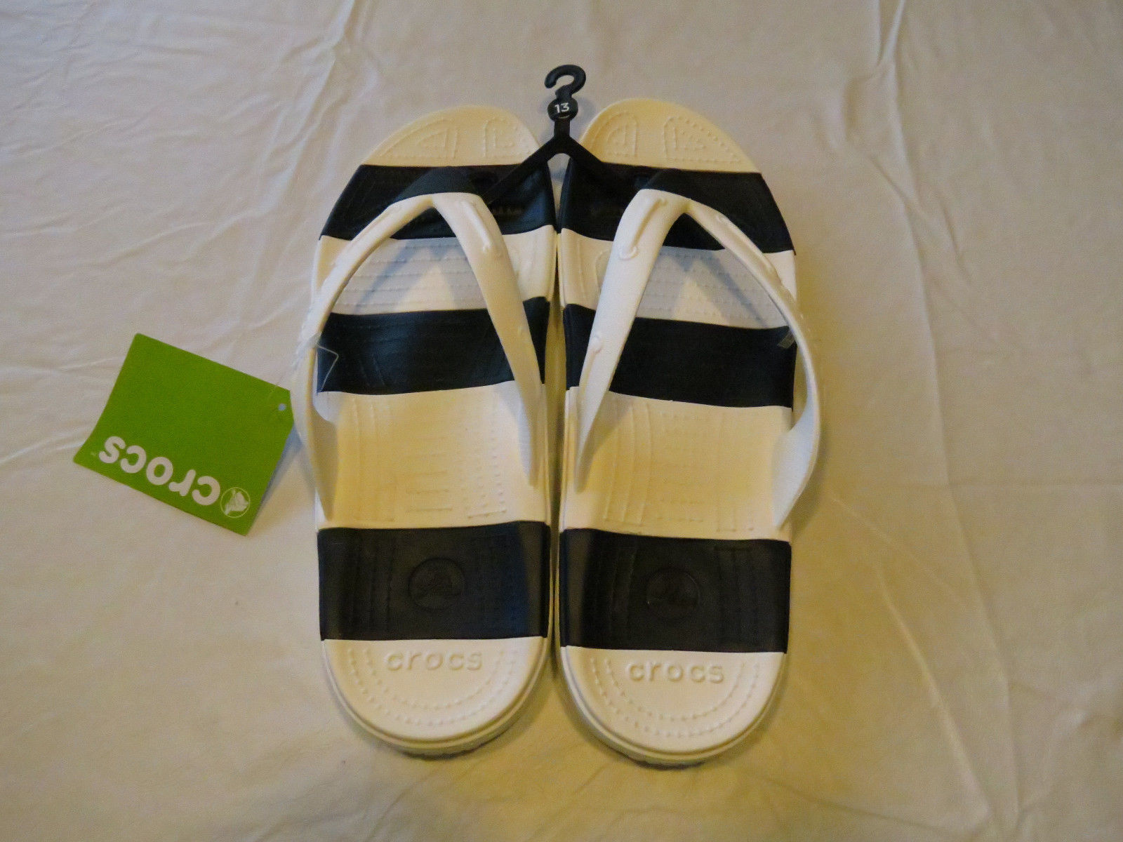0dc077e3bf5 Beach Line Crocs unisex White Navy Relaxed and similar items. S l1600