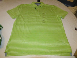 Men's Tommy Hilfiger Polo shirt striped 7875525 Bright Lime 352 M Classi... - $38.39