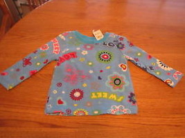 The Children's Place girls 6-9 month L/S shirt NWT love sweet flowers ba... - $5.93