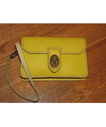 Fossil SL3931001 Asutin Wristlet Citrus Yellow Leather iPhone phone 60.0... - $31.24