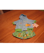 Baby essentials fish terry hoodie snap shirt jacket swim trunks shorts 3... - $20.61