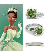 .925 Silver Over White Gold Fn Multi-Stone Disney Princess Tiana Engagem... - $169.99