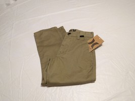 Hurley Boy's Youth jeans 4 bamboo brown pants '84 slim fit khaki 1445501... - $26.86