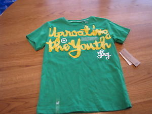 youth Boys 6  LRG roots equipment kelly green t shirt