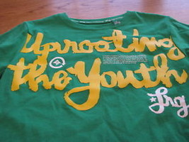 youth Boys 6  LRG roots equipment kelly green t shirt  image 2