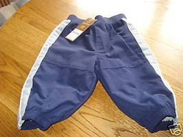 Carter's boys active long pants NWT infant 6 months 6M baby navy blue NEW - $31.89