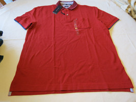 Men's Tommy Hilfiger Polo shirt  logo 7868433 Navy Red 607 L Classic Fit NWT - $35.99