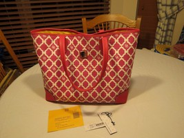 Dooney and & Bourke PM729 HP Hot pink purse tote bag Sanibel Lois RARE l... - $166.19