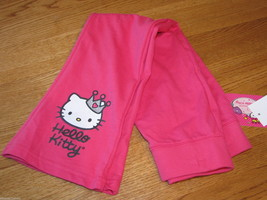 Girls Hello Kitty pink pants 6 HK55522 CER Princess HK Pant W/ Gltr Scn NWT^^ - $13.85