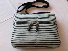 Fossil  ZB5737784 Erin Print Xbody Mint Crossbody Top Zip purse striped NWT^^ - $59.99
