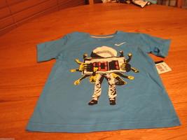 Boys Youth 2 toddler Nike baseball blue glow sports TEE T shirt TEE NEW ... - $11.99