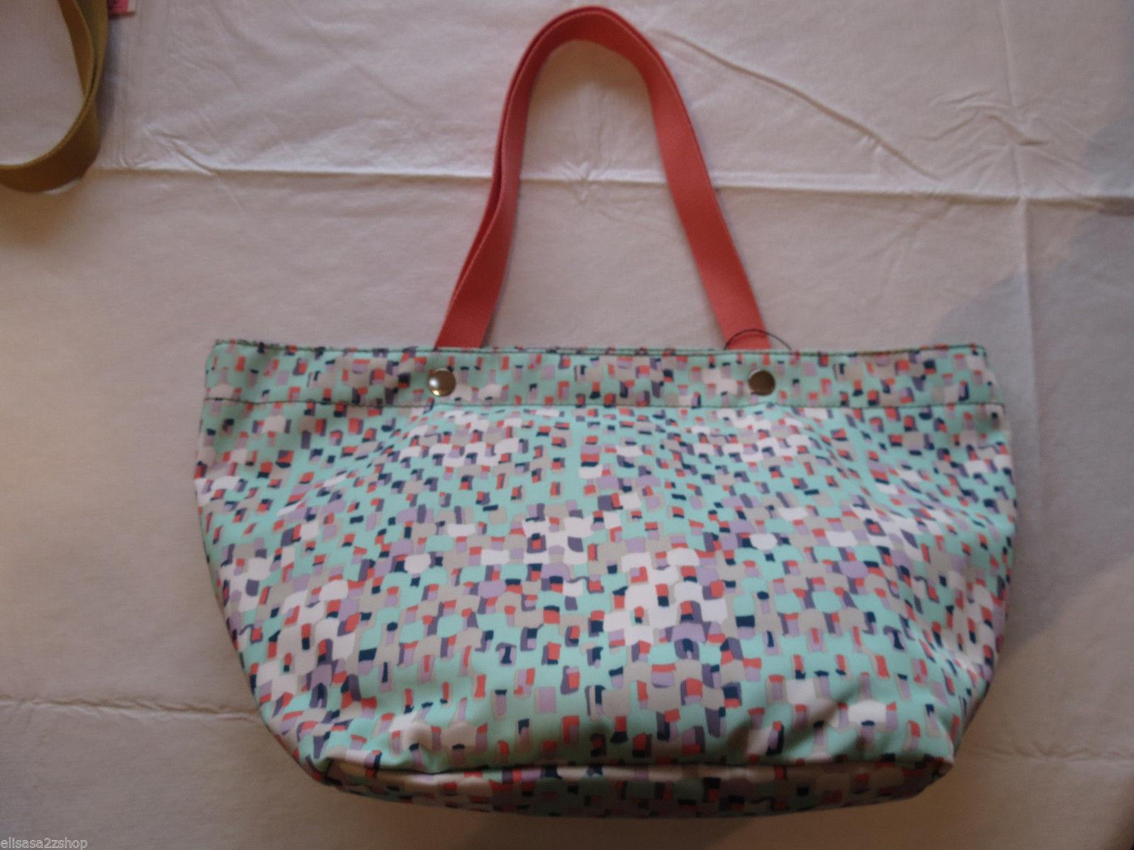 Fossil  SHB1086116 Aspen Traveler Sea Glass Top Zip Leather purse **spots* NWT^^