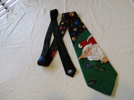 RARE Special Ties Hallmark necktie tie Ugly Santa Christmas Golf Men's Holiday - $15.59