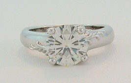2 Ct Round Moissanite Vintage Floral Engagement Ring - $1,237.50