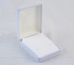 """Lot of 12 Earring Gift Boxes 3"""" x 2.25"""", Light Gray, Metal Velvet Shell ... - $29.35"""