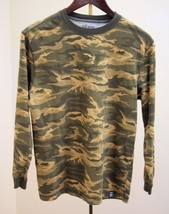 Old Navy XL Tee T Shirt Green Camouflage Long Sleeves Boys School Casual - $7.80