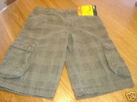 Lee boys shorts plaid NWT 26.00 adjustable waist 7X R - $9.60