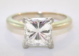 2.62 Ct Square Forever Brilliant  Moissanite Engagement Ring - $1,534.50