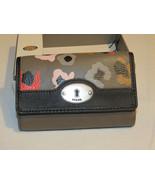 Fossil SL4720020 Marlow NVL Multi Grey Leather Wallet multifunction RARE... - $66.07