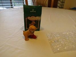 RARE ornament Hallmark Cinnamon Bear collector's series 5th Christmas st... - $14.39