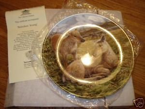 Primary image for Bradford Exchange Reindeer Young plate w/cert/box