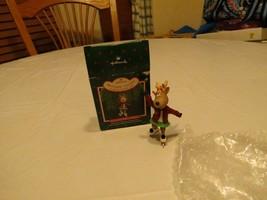 RARE ornament Hallmark 1987 Christmas Collector's series Dancer Reindeer... - $14.39