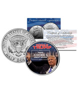 "DONALD TRUMP ""MAKE AMERICA GREAT AGAIN"" 2016 U.S. COLORIZED JFK HALF DOL... - $13.99"
