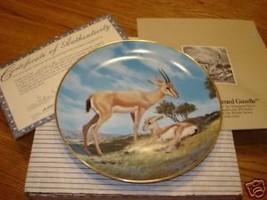 Bradford Exchange The Horned Gazelle  plate w/cert/box - $14.99