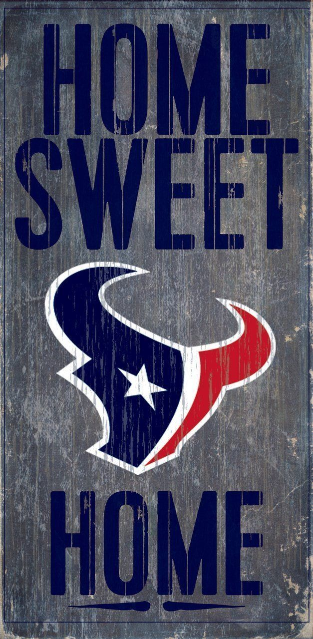 "HOUSTON TEXANS HOME SWEET HOME WOOD SIGN and ROPE 12"" X 6""  NFL MAN CAVE!"