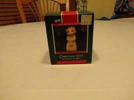 RARE ornament Hallmark 1989 Christmas Kitty collectors series fine porce... - $11.99
