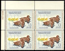 RW27, Duck Plate Block of Four - Mint VF NH Cat $425.00 - Stuart Katz - $249.00