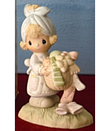 E-3111 Do Not Be Weary Inspirational Precious Moments Figurine Girl with... - $32.95