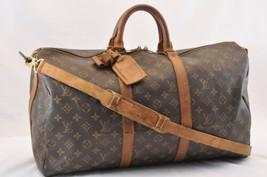 LOUIS VUITTON Monogram Keepall Bandouliere 50 Boston Bag LV Auth 6695 - $450.00