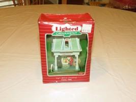 RARE ornament Hallmark Lighted Night Before Christmas 1988 retired house... - $23.99