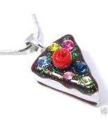 NP50 Crystal Birthday Cake Pendant Necklace - $12.99